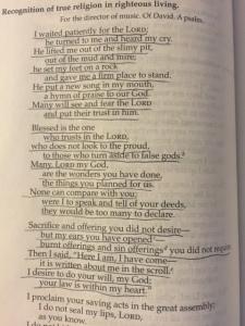 Apriil 27 Psalm 40, 2015