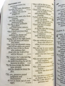Proverbs 3 to verse 25