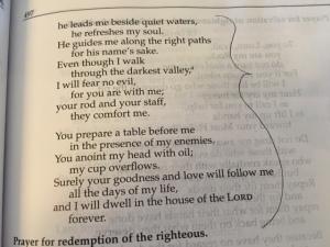 April 20 psalm 23, 2016