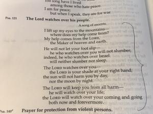 April 25 psalm 121, 2016