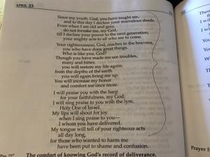 psalm 71b, 2016