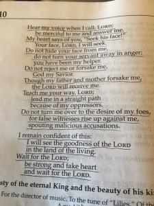 May 10 Psalm 27 2016 b